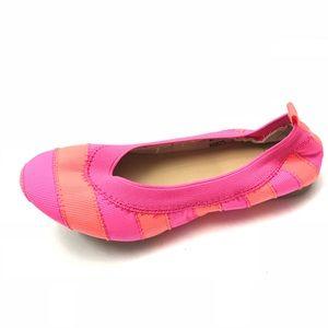 Crewcuts Mila ballet flats stripe pink 11 NEW